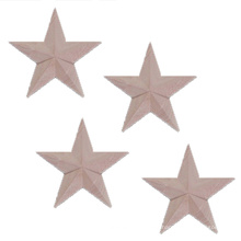 Pentagonal star molding decorated solid wood carving flowers