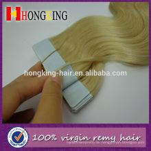 # 613 blonde wellige russische Haar-Band-Haarverlängerungen