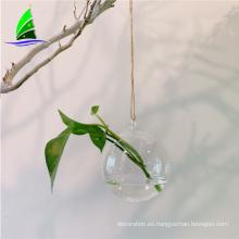 Florero de cristal de la decoración del hogar de cristal de la forma del huevo que cuelga