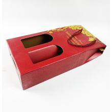 Al por mayor caja de embalaje de copa de vino doble corrugada rígida