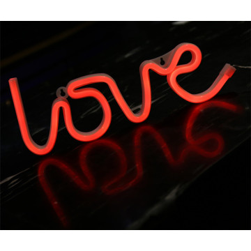 LOVE Neon Letter Lights Signs Batería accionada