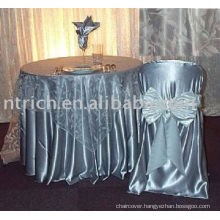 Charming satin chair covers for wedding