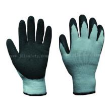 Látex natural recubiertos guante de trabajo de invierno (LT2014)