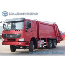 Camion à ordures de compacteur de HOWO 6 * 4 15000L