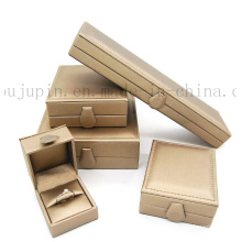 Custom Luxury Leather Packing Gift Jewelry Box for Ring Necklace