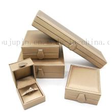 Caixa de jóias de presente de embalagem de couro luxo personalizado para colar de anel