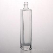 Usines de bouteilles de verre à vin carrées de 500 ml
