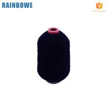 Hilo cubierto de goma de látex elástico para tejer calcetines de hilo de goma negro