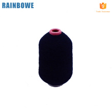 High elastic latex rubber covered yarn for knitting socks black rubber yarn