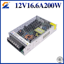 12V 16.5A 200W LED slim power supply