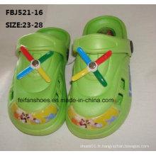 Dernières conception EVA jardin chaussures pantoufles de mode pour les enfants (fbj521-16)