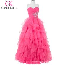Grace Karin Strapless Off shoulder Organza Long Western Boutique Dresses CL3411-1