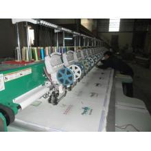 Máquina del bordado de lentejuelas con dispositivo de los cequis dobles