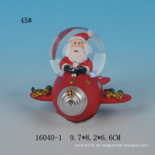 Lovely Santa Design 45MM Harz Mini Schneekugel
