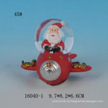 Globo lindo de la nieve de la resina del diseño 45MM de Santa