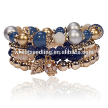 Modeschmuck niedrige moq innovative Handwerk Blätter handgemachte Perlen shamballa Armband
