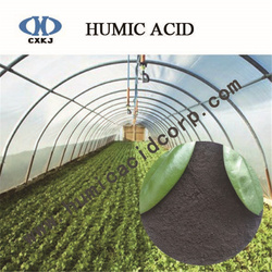 Leonardite humic acid with drying small humidity