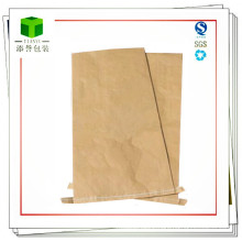 Plastic Material Seam Bottom Kraft Paper Bag
