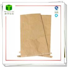 Saco de papel Kraft de fundo de costura de material plástico