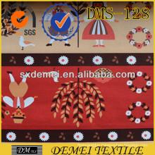 custom fabric printing cotton design woven textile