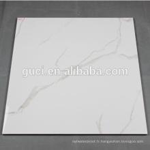 carreaux de porcelaine super nano poli blanc pour carreaux de marbre blanc