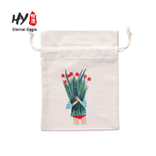 New design gift pouch 8oz canvas drawstring bag