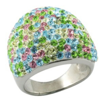 Jewellery Crystal Stainless Steel Ring Setting Stone Ring