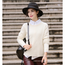 Women′s Cashmere Sweater with Round Neck (13brdw100)