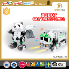 Electric car transform toy robot with light and music