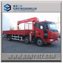 12t Crane Load 220HP Faw J6l 6X2 Truck Mounted Crane