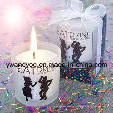 Regalo de cumpleaños velas perfumadas con etiqueta privada