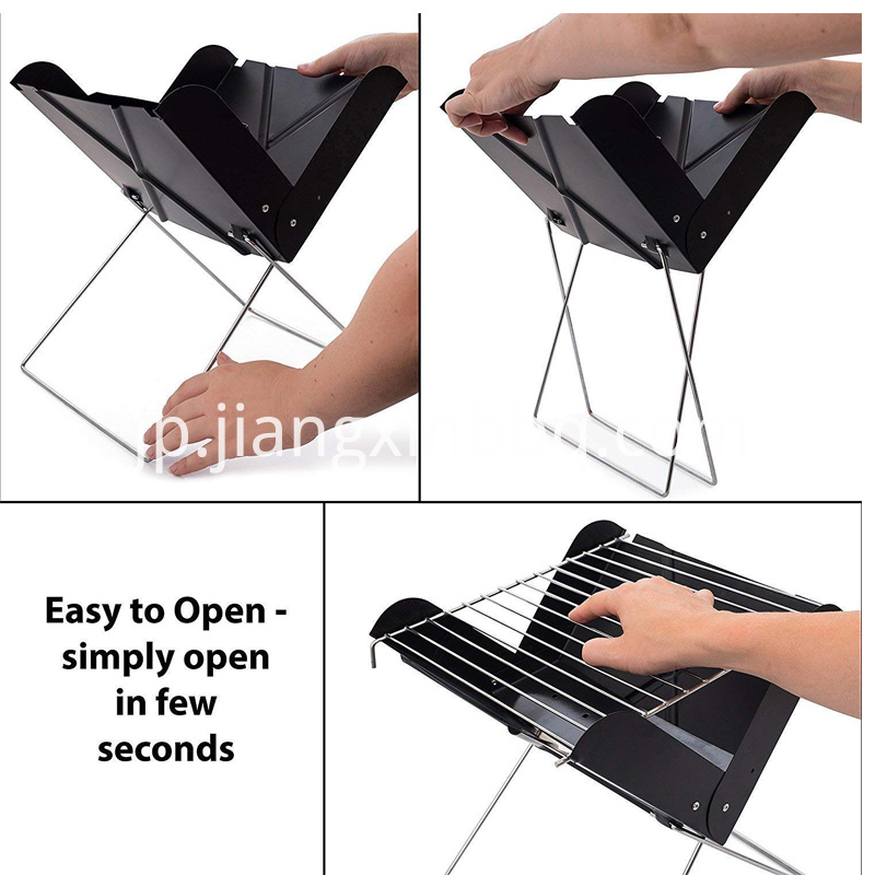 Mini Portable X Folding Charcoal BBQ Barbecue Grill Assembly Instruction