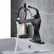 2019 Wenzhou China supplier black single hole brass deck mount basin faucet bathroom sink faucet