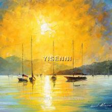 YISENNI handmade seascape abstract oil painting on canvas