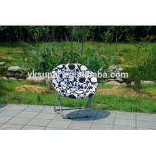 Outdoor colorful casual folding chair moon chair beach chair