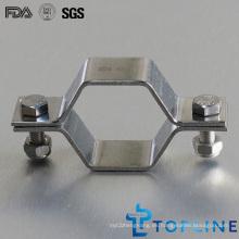 Sujetador sanitario de tubo hexagonal con arandelas