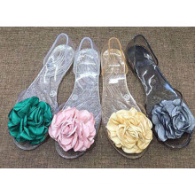 Único PVC cristal / geléia sapatos para senhoras