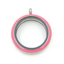 Art- und Weiseanhänger-Schmucksache-runder Plastikkreis-Glas-Locket