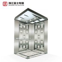 China ZhuJiangFuJi Supplier Stainless Steel Passenger Gearless Traction Machine Residential Elevators/Home Elevator Price