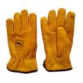 Top Grade Cowhide inverno segurança luvas quentes para Riggers