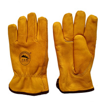 Cow Leather Winter Warm Driving Gloves with Thinsulate Full Lining
