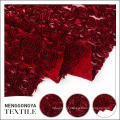 Bordado de seda floral bonita do bordado da fita do poliéster para o vestido