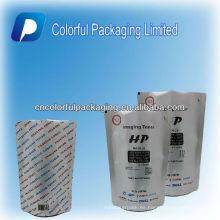 Papel de aluminio personalizado levante la bolsa de polvo de carbón