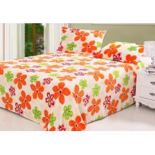 Conjunto de cama de lino impreso de lana coralina