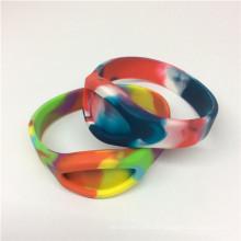 Populär Camouflage Farbe Silikon Band Armbänder Gummi