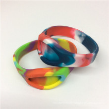 Popularly Camouflage Color Silicone Band Bracelets Rubber