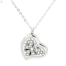 Heart shape essential oil perfume solid pendant,silver perfume lockets for women