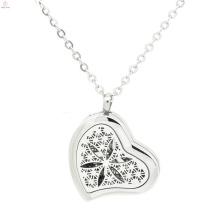 В форме сердца эфирное масло твердые духи кулон,серебро духи медальоны для женщин