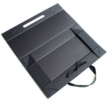 Flap Board Folding Paper Box With Ribbon
