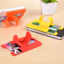 Newly 3m Sticker Silicone Mobile Phone Card Pocket with Stand Holder